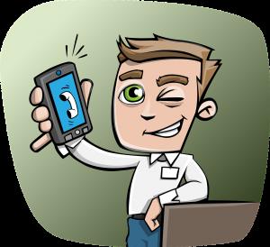 guy, phone, smartphone